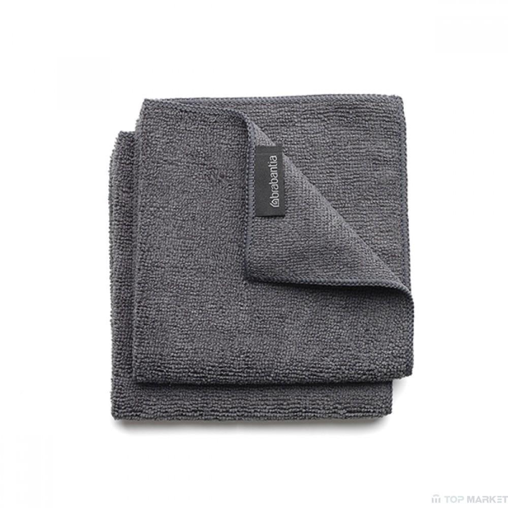 Микрофибърна кърпа за съдове, 2 бр, Brabantia, Dark Grey