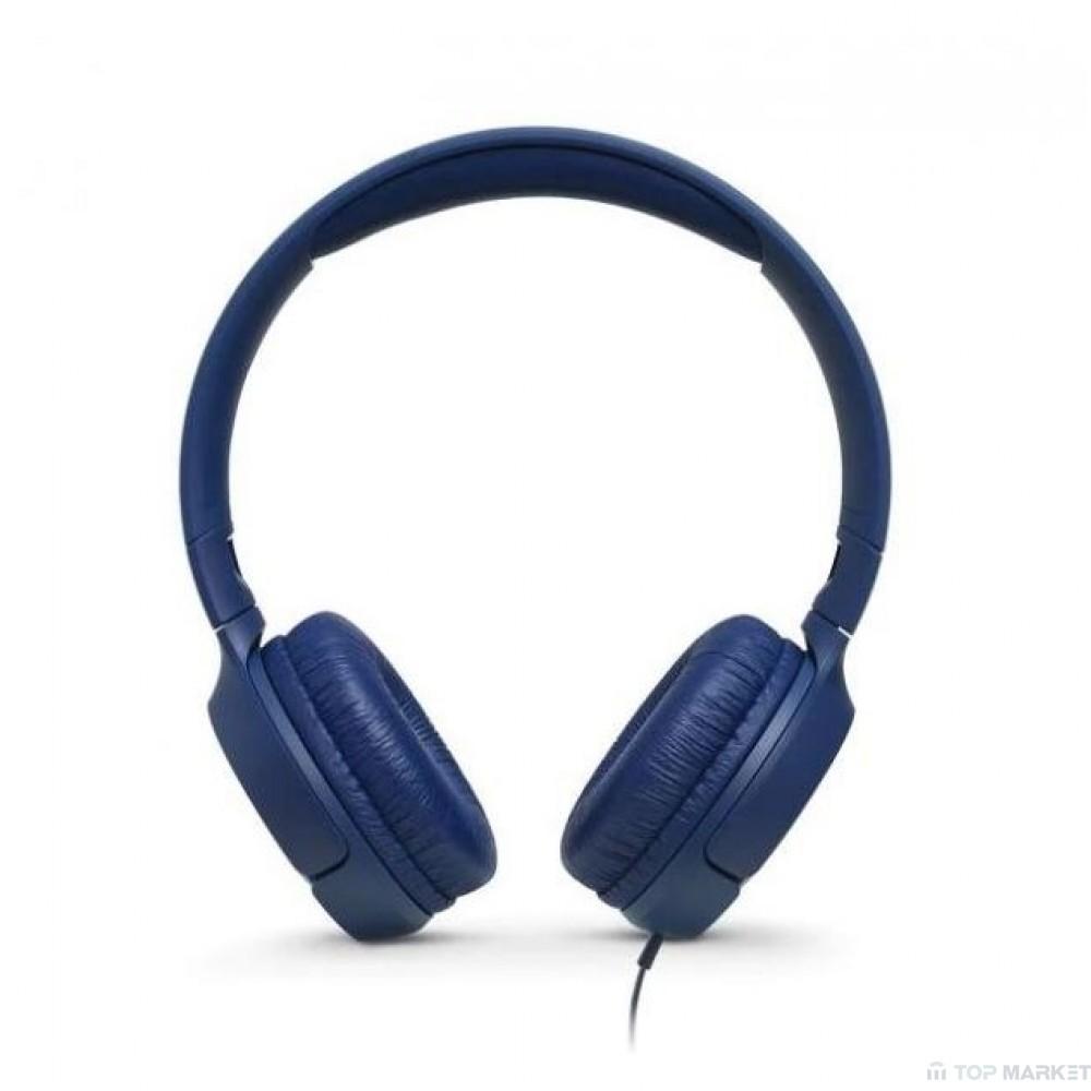 Слушалки  JBL T500 BLUE