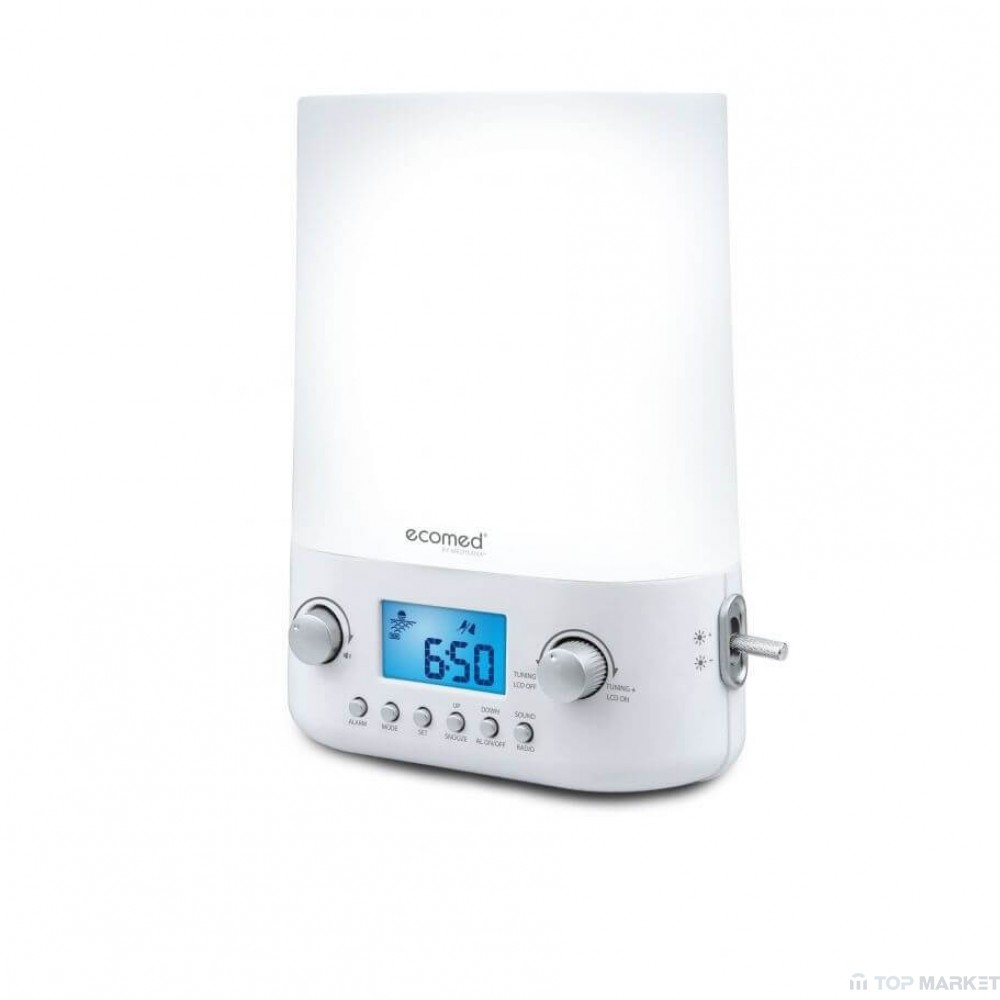Симулатор на изгрев с радиочасовник Ecomed Wake-up Light WL 50E