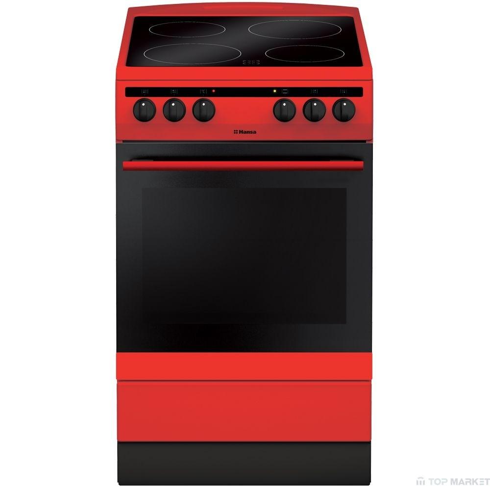 Готварска печка HANSA FCCR 58088 червена