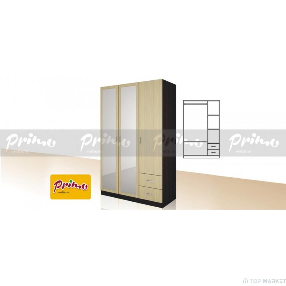 Трикрилен гардероб Primo 15