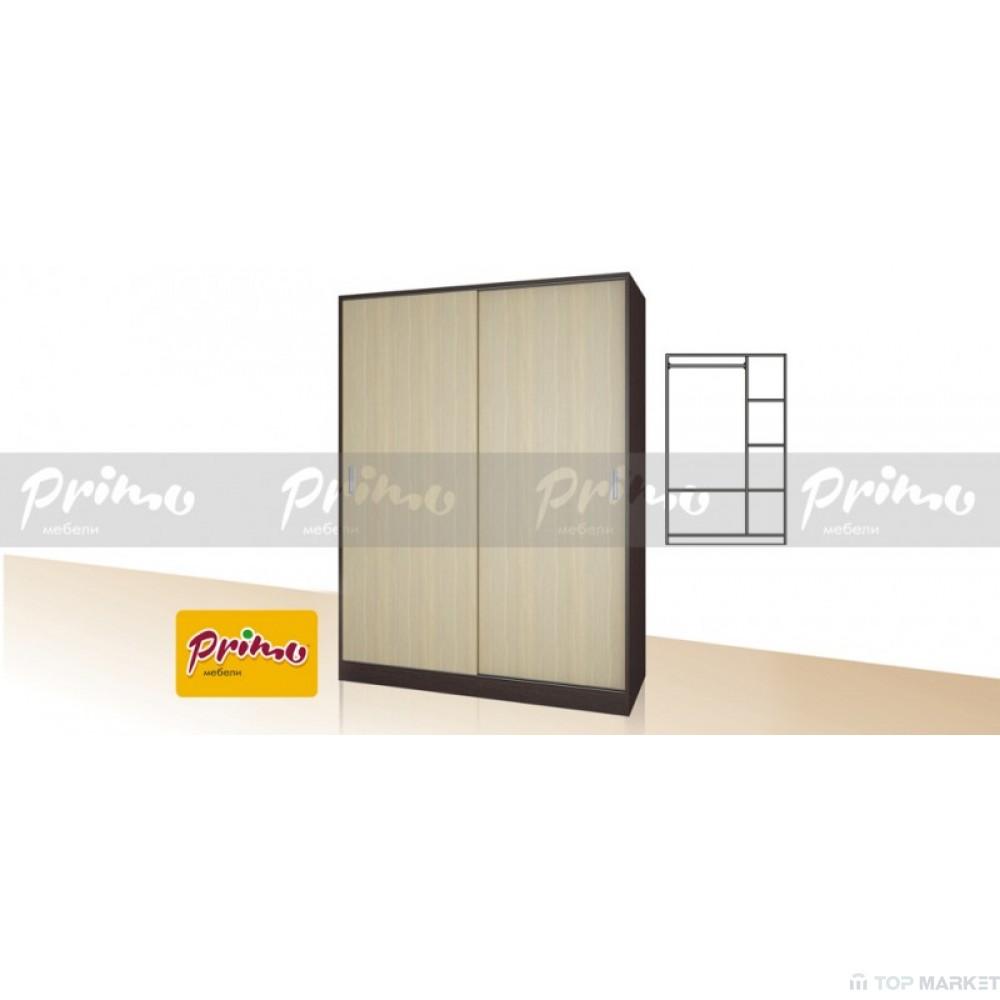 Двукрилен гардероб с плъзгащи врати  Primo 16