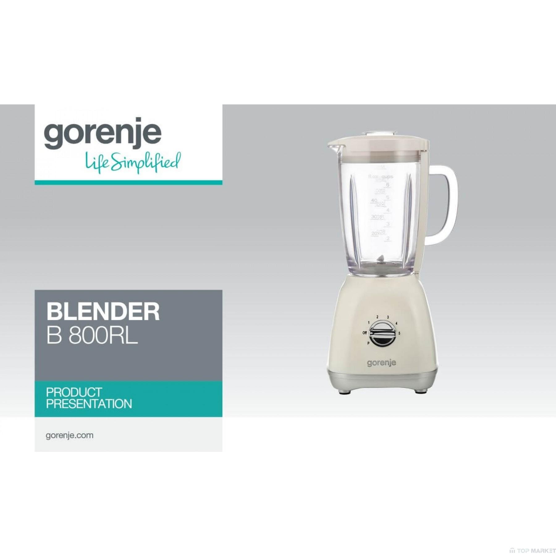 Блендер GORENJE B800RL