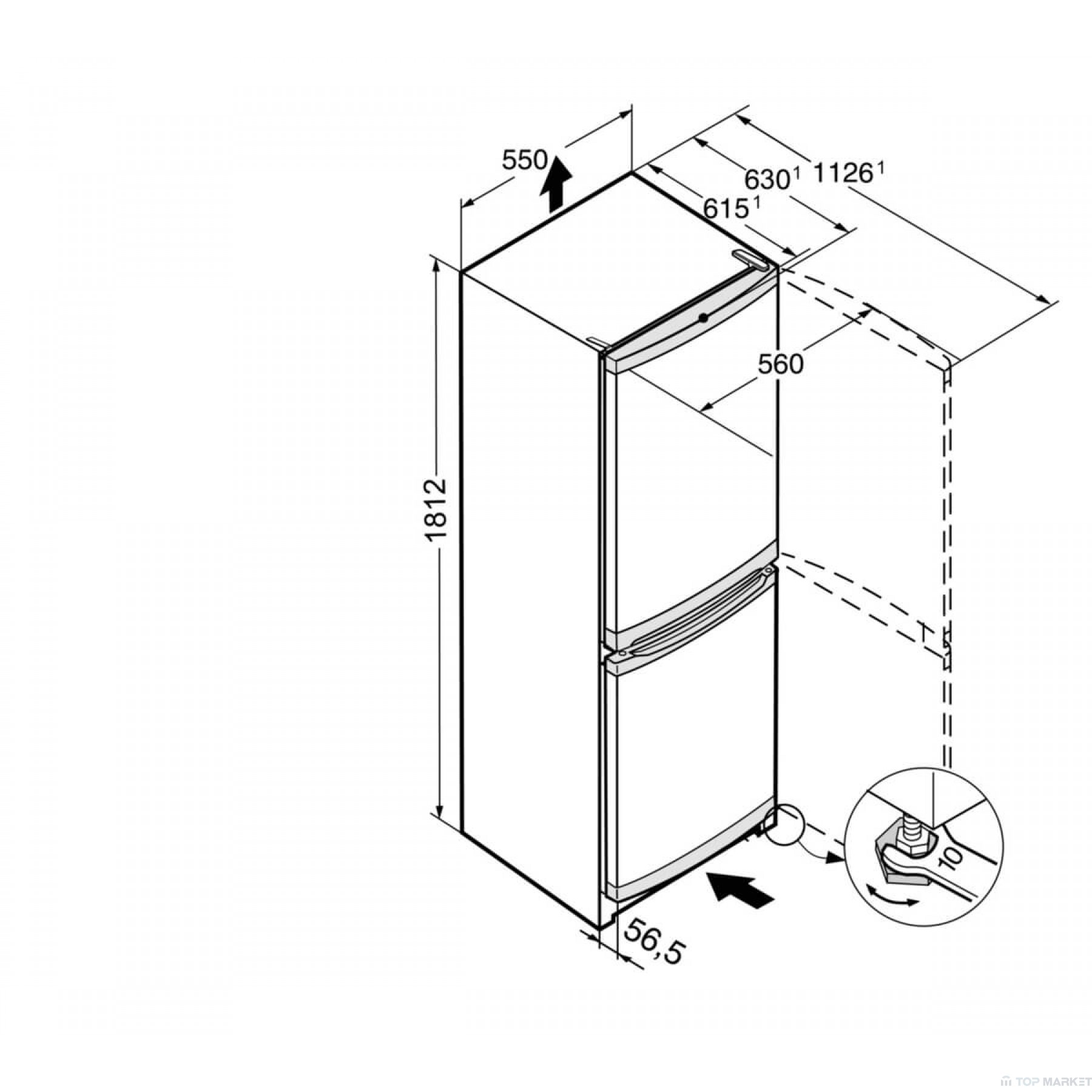 Хладилник фризер LIEBHERR CU 3331