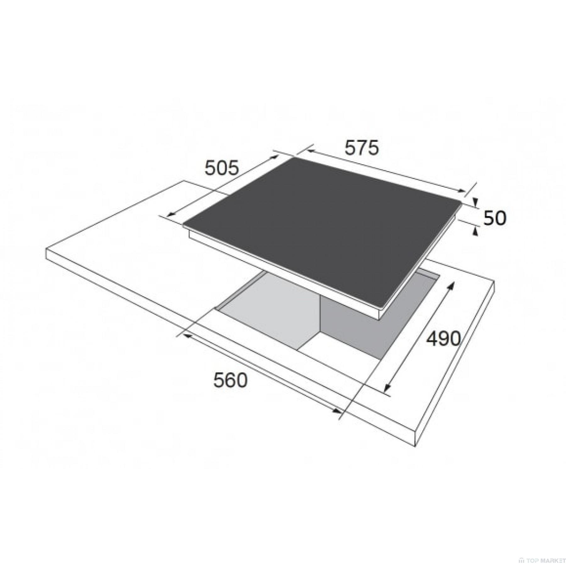 Плот за вграждане Hansa BHCI65123030 стъклокерамичен