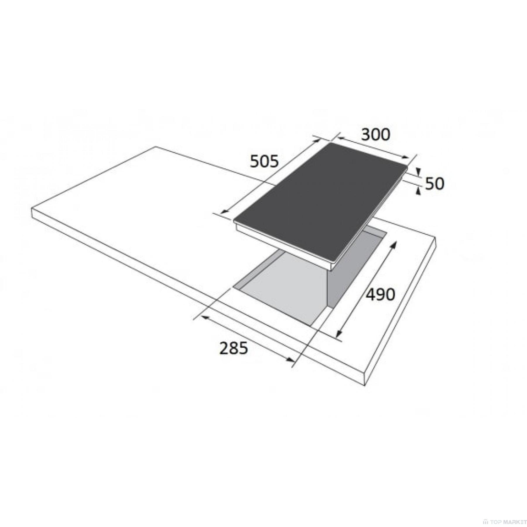 Плот за вграждане Hansa BHCS38120030 стъклокерамичен
