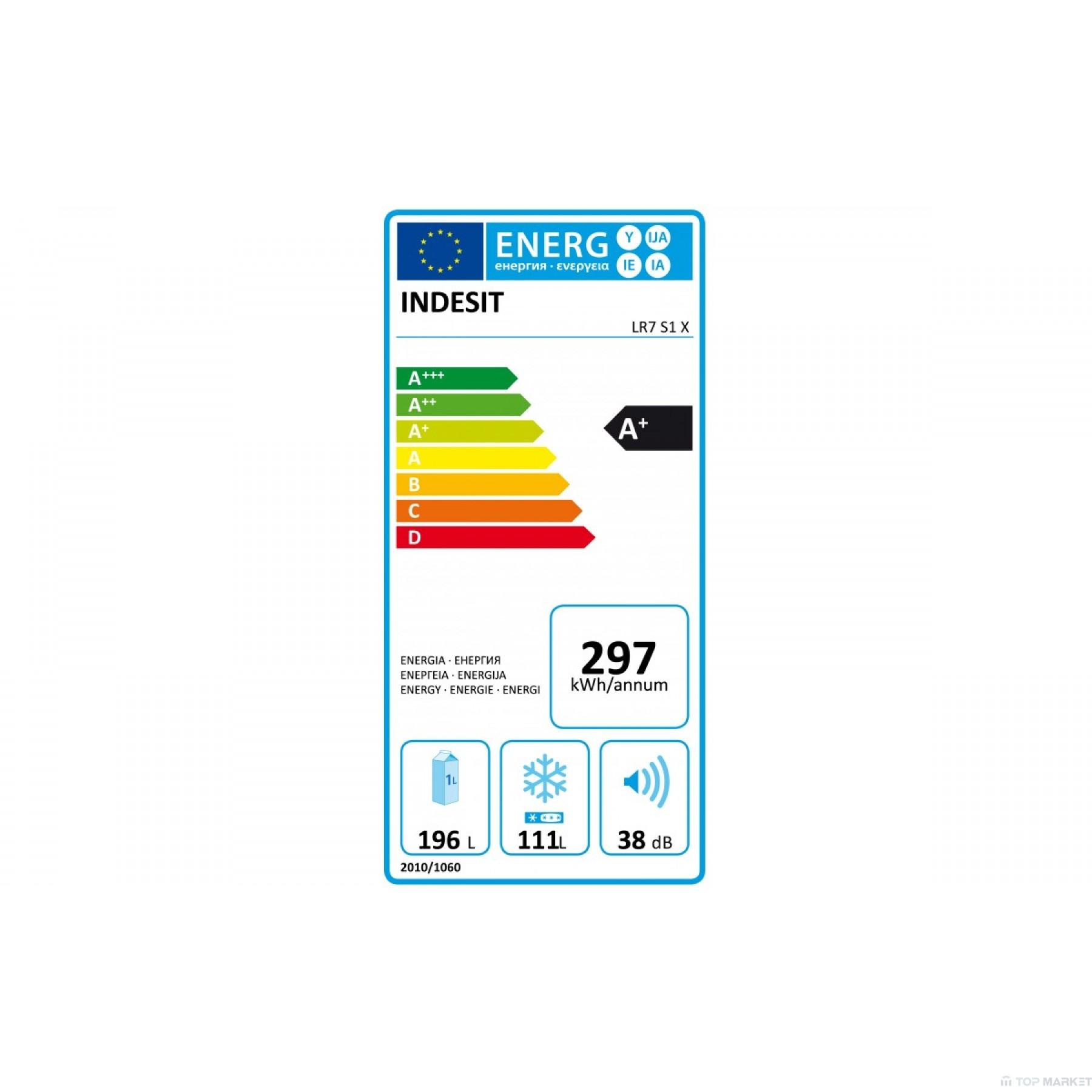 Хладилник фризер INDESIT LR7 S1 X