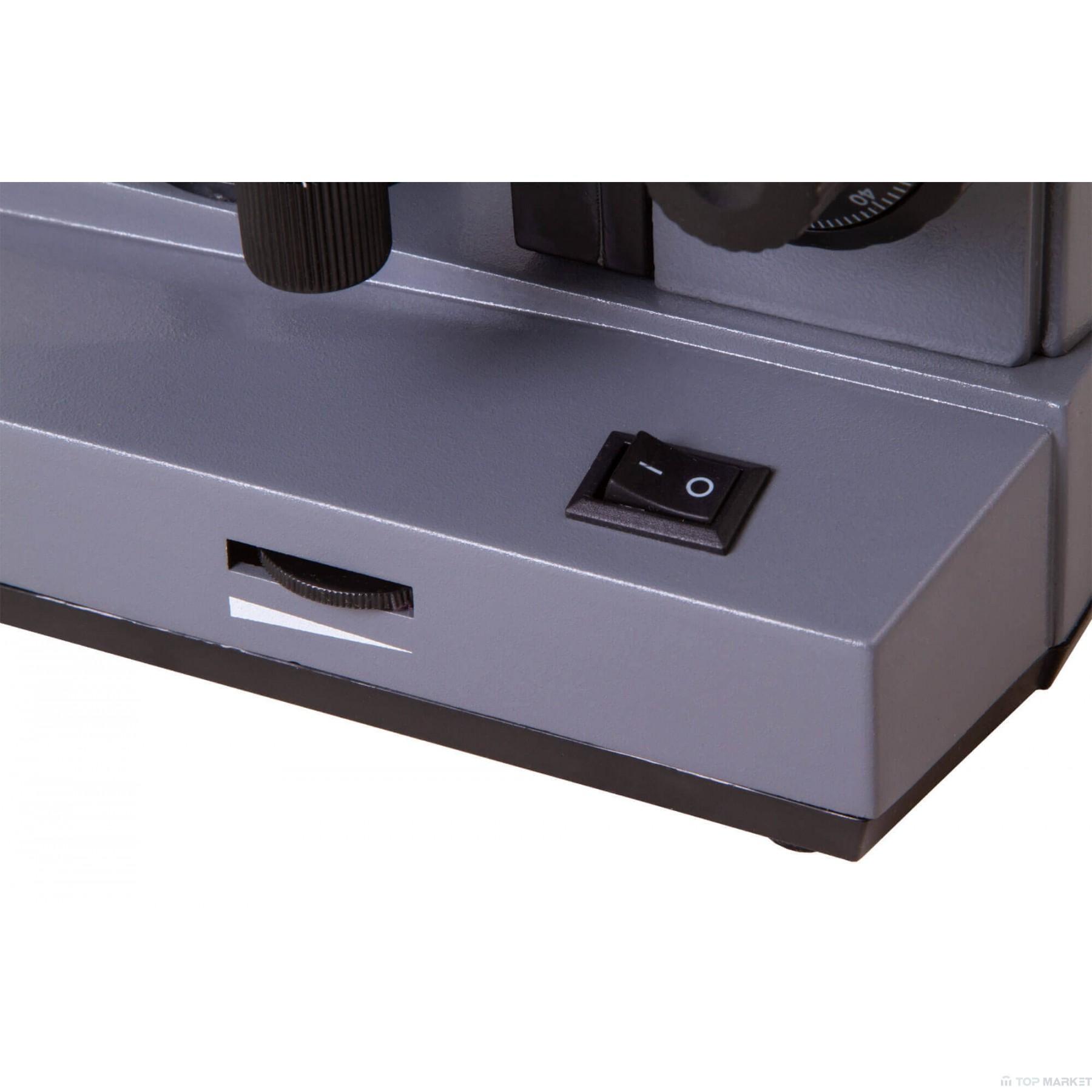 Биологичен монокулярен микроскоп Levenhuk 320 BASE