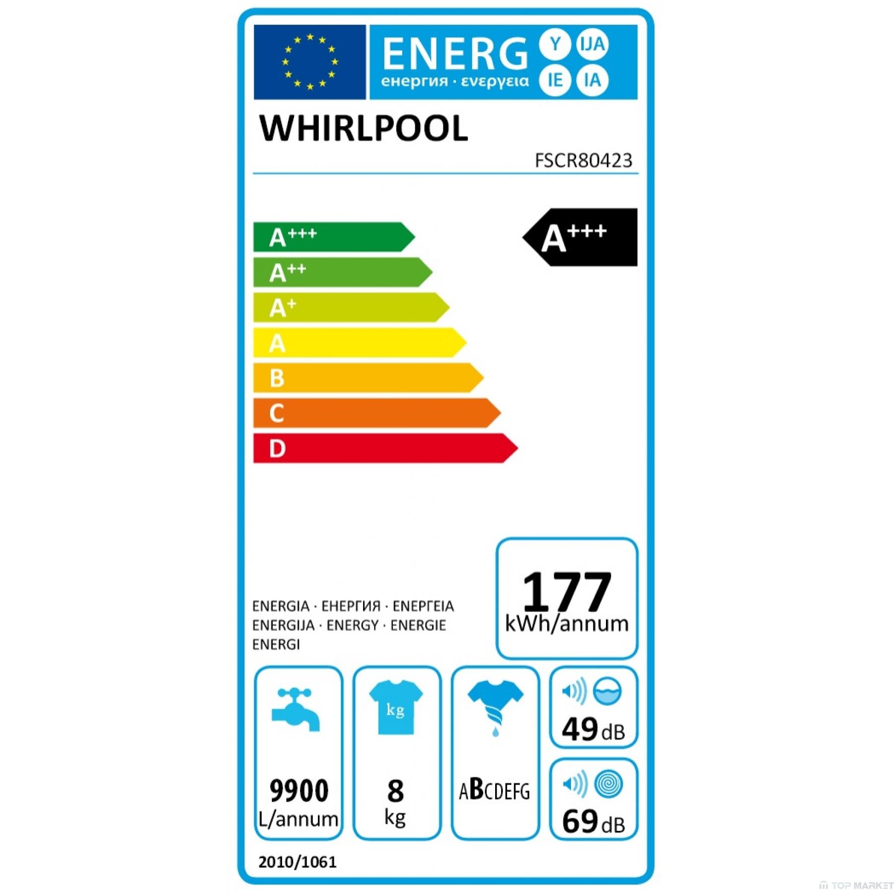 Пералня WHIRLPOOL FSCR80423