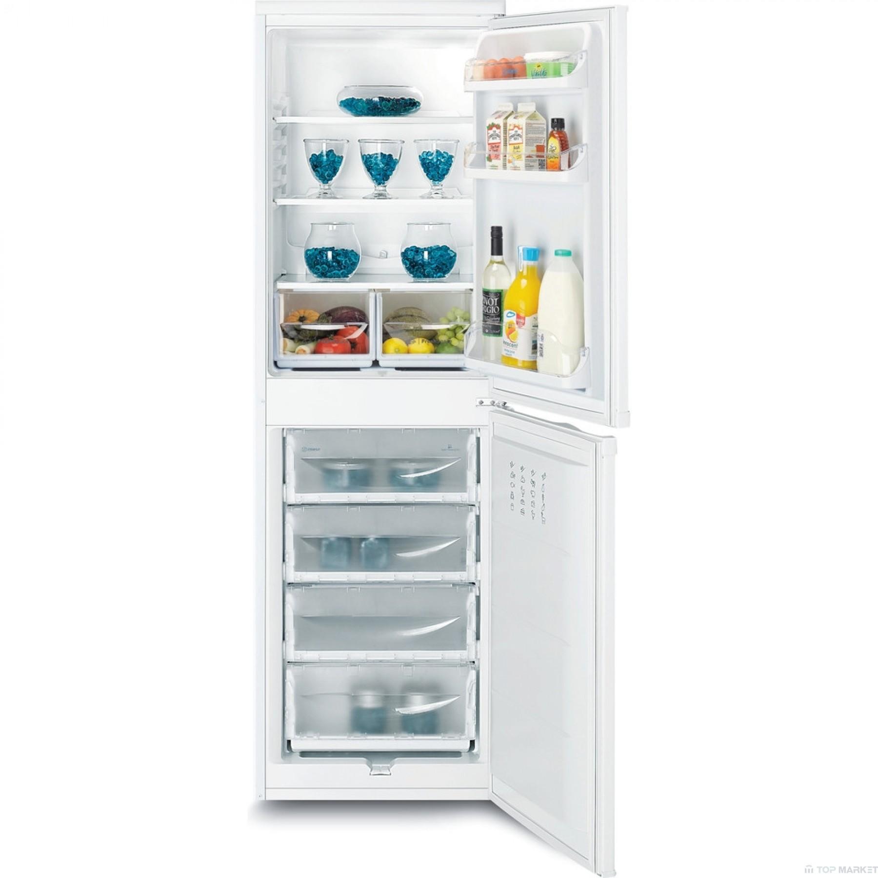 Хладилник с фризер INDESIT CAA 55 1