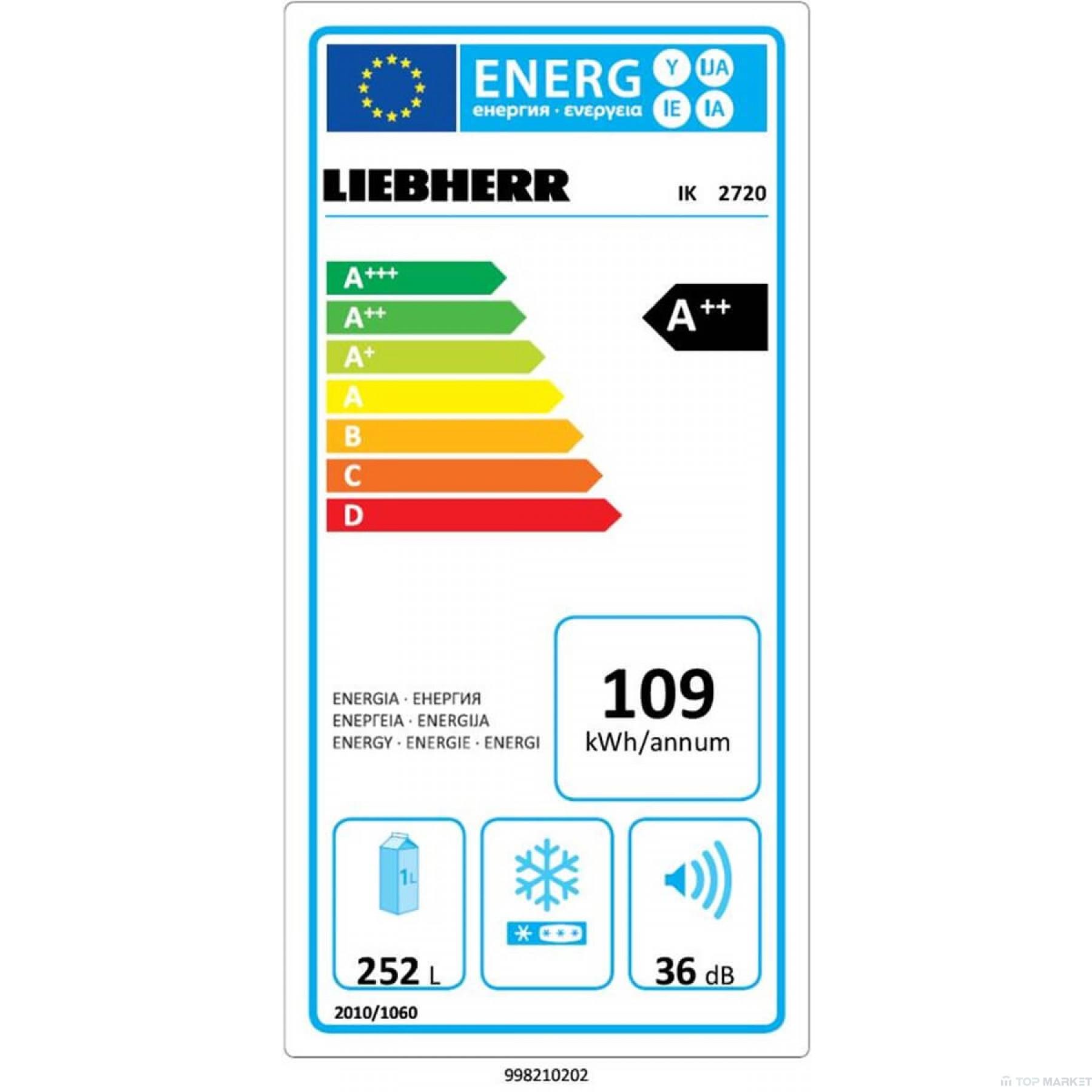Хладилник за вграждане LIEBHERR IK 2720