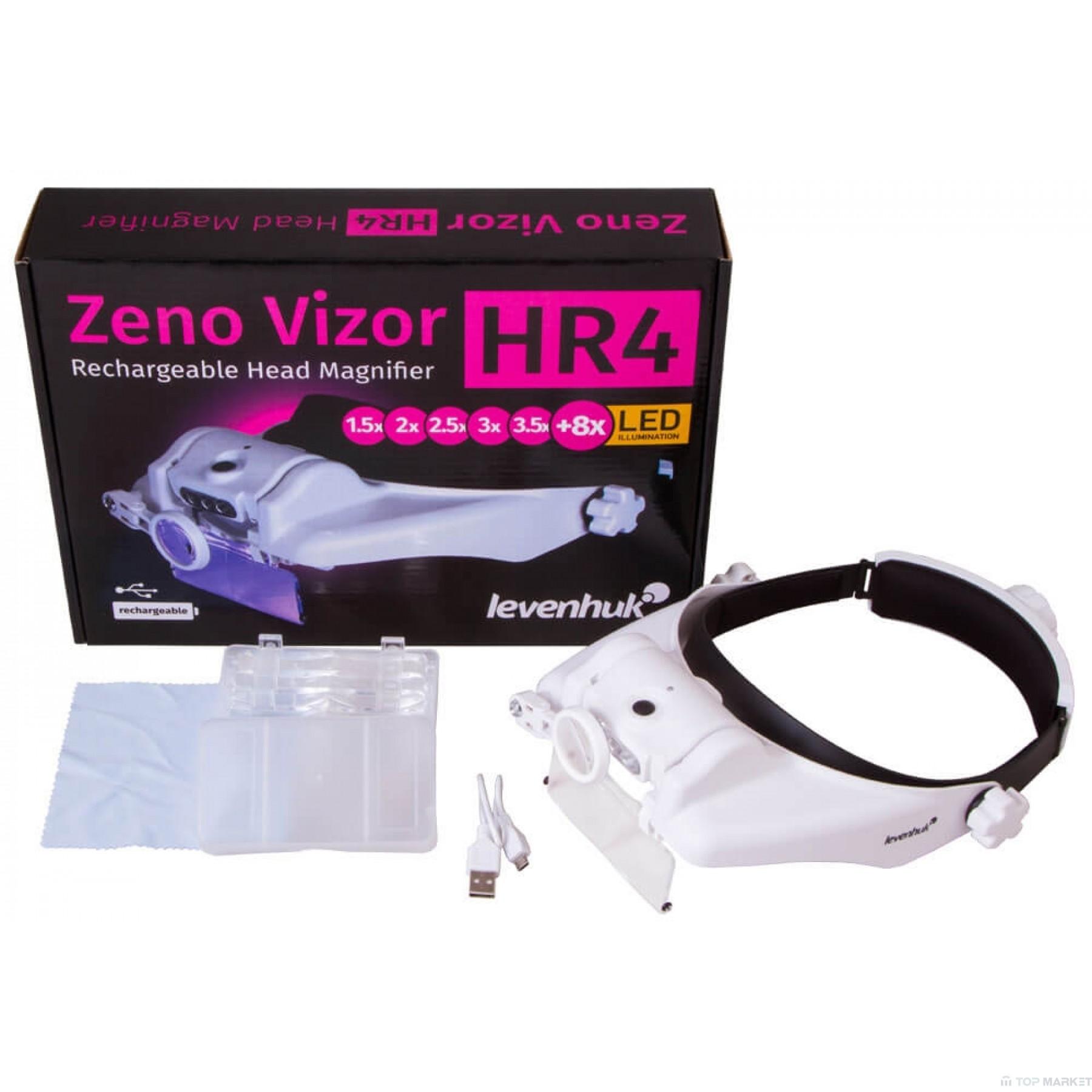 Лупа за глава с акумулатор LEVENHUK Zeno Vizor HR4