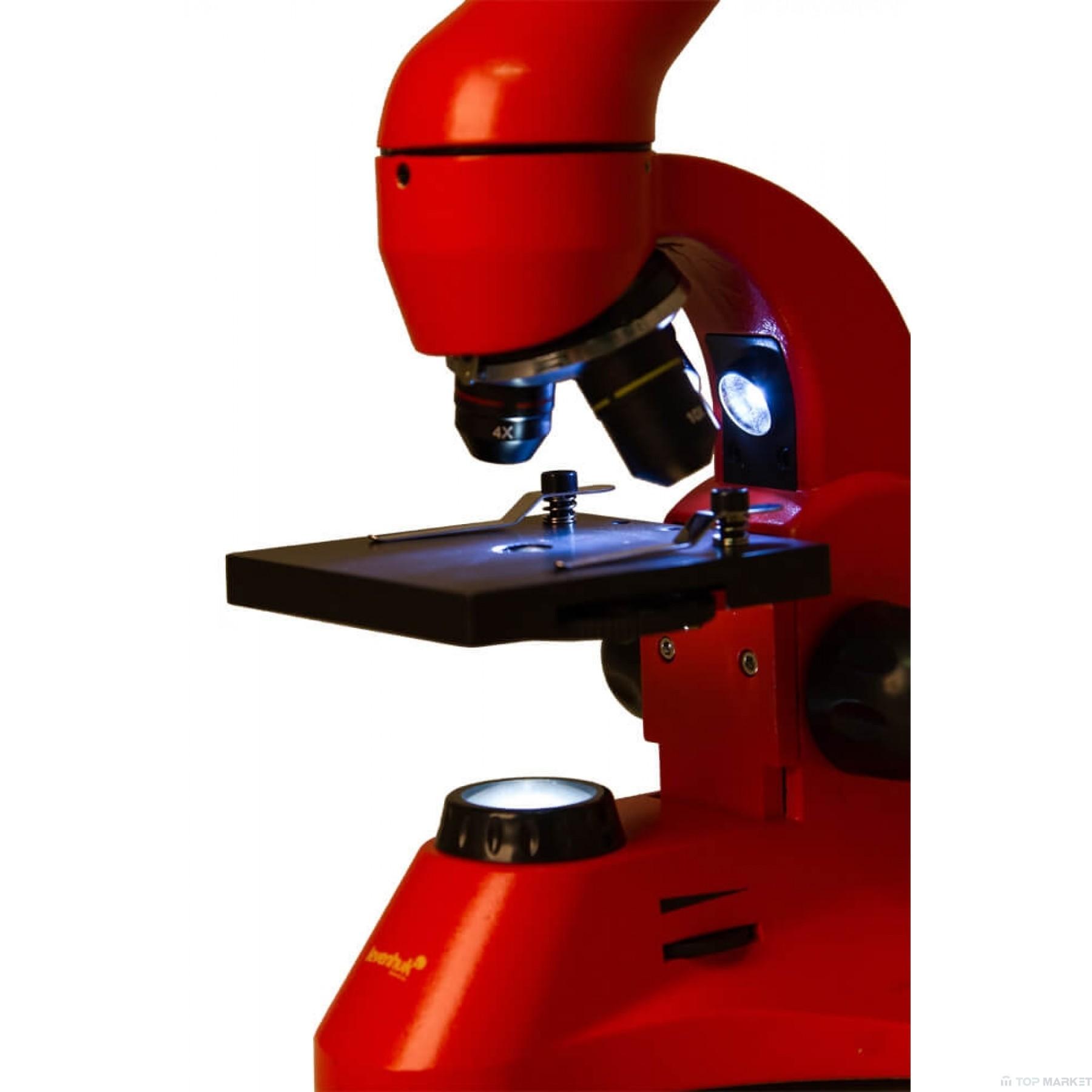 Микроскоп LEVENHUK Rainbow 50L PLUS Orange