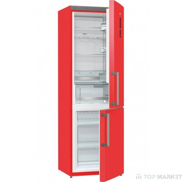 Хладилник  фризер Gorenje NRK6192MRD