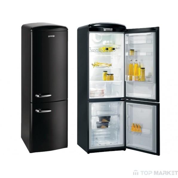 Хладилник фризер gorenje ORK192BK