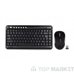Клавиатура A4tech 3300N безжична мини + мишка