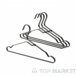 К-т алуминиеви закачалки за дрехи Brabantia Linn, Black, 4 бр.