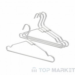 К-т алуминиеви закачалки за дрехи Brabantia Linn, Silver, 4 бр.
