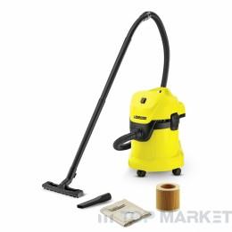 Прахосмукачка KARCHER WD 3 за сухо и мокро почистване
