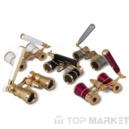 Бинокъл LEVENHUK Broadway 325N Opera Glasses (lorgnette with LED light)