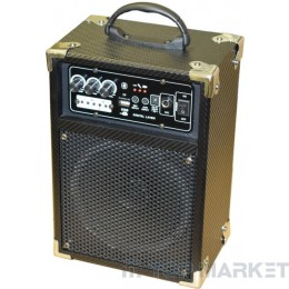 Колонки ПАСАТ BOOM BOX +MP3+AMPL+KAREOKE A6