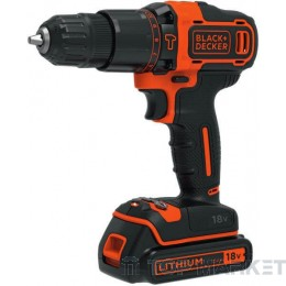 Акумулаторна бормашина Black & Decker BDK188KB