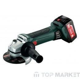 Акумулаторен ъглошлайф METABO W 18 LTX 125 2X4.0Ah 125mm