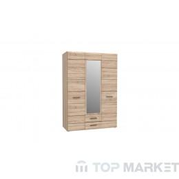 Гардероб с огледало Соло 3D2S
