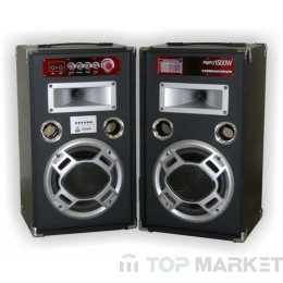 Колонки ПАСАТ BOOM BOX MP3 PLAYER FM RADIO AMPL KARAOKE BLUETOOTH WT-8802