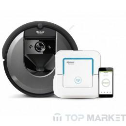 Прахосмукачка робот IRobot Roomba i7 (7158) + подочистачка Braava jet 240