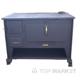 Готварска печка отоплителна TECHNIKER 72580 голяма с десен комин