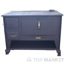 Готварска печка отоплителна TECHNIKER 72582 малка с десен комин