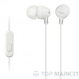 Слушалки SONY MDR EX15LP WHITE