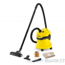 Прахосмукачка KARCHER WD 2 HOME за сухо и мокро почистване