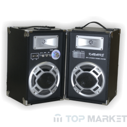 Колонки ПАСАТ BOOM BOX +MP3+AMPL+KAREOKE WT6603 Bluetooth