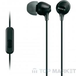Слушалки SONY MDR EX15AP BLACK