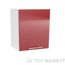 Шкаф горен В 60x68 за абсорбатор Tracy червен лак