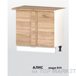 Долен шкаф за ъгъл с 1 врата и рафт АЛИС