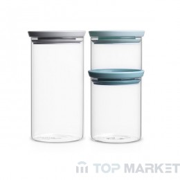 К-т стъклени буркани 3 бр. Brabantia