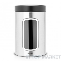Буркан Brabantia Window 1.4 L, Matt Steel FPP