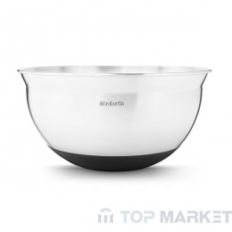 Купа за бъркане Brabantia, 1.6 L Matt Steel/Black