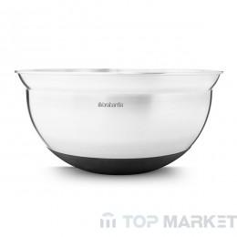 Купа за бъркане Brabantia, 3 L Matt Steel/Black