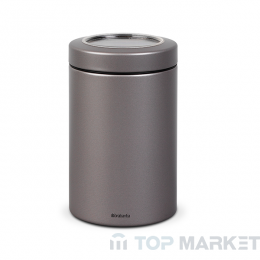 Буркан Brabantia Window Lid 1.4 L, Platinum