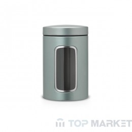 Буркан Brabantia Window 1.4 L, Metallic Mint