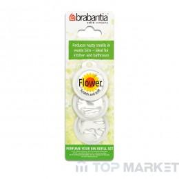 Ароматизатор за кош Brabantia 3 капсули - цветя