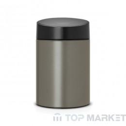 Кош за смет Slide, 5 L Brabantia Platinum