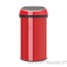 Кош за смет TOUCH, 60L Brabantia Passion Red