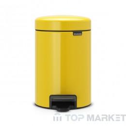 Кош с педал Brabantia NewIcon 3 L Yellow