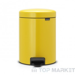 Кош с педал Brabantia NewIcon 5 L Yellow