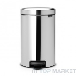 Кош с педал Brabantia NewIcon 12 L Brilliant Steel